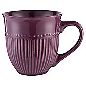 Tesco Purple Ribbed Mug Single