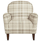 Lausanne Armchair Check, Natural