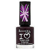 Rimmel London I Love Lasting Finish Nail Polish 193 Black Cherries