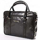 Head Faux Leather Travel Laptop Bag