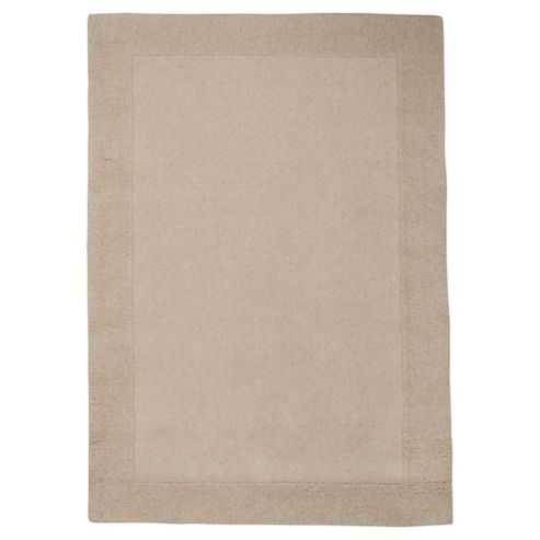Tesco Tiered Border Wool Rug Cream 120X170Cm