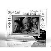 Sixtrees Moments Bevelled Glass Grand Dad Photo Frame
