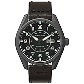 Grayton Harrier Mens Leather 24 hour Date Watch GR-0014-005.5