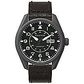 Grayton Harrier Mens Leather 24 hour Date Watch GR-0014-005.5