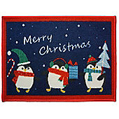 Penguin, Christmas Themed Door Mat