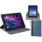 Navitech Blue Faux Leather Case Cover With 360 Rotational Stand For The Windows Connect 9