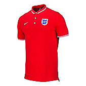 2014-15 England Nike Authentic Polo Shirt (Red) - Red