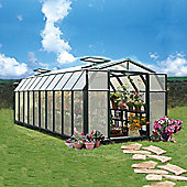 Rion Polycarbonate Greenhouse Hobby Gardener 8X20 Dark Green extruded resin frame