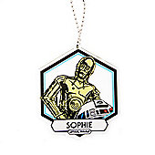 Star Wars Personalised Droid Christmas Tree Decoration (Single)