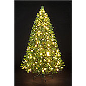 7ft 6in Pre-Lit Carson Spruce Hinged with 380 Static Warm White LEDs