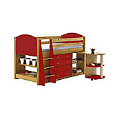 Verona Mid Sleeper Set 1 Antique With Red Details