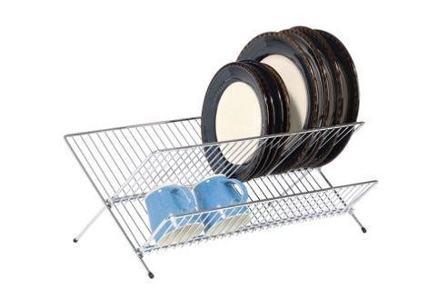 KitchenCraft Large Fold Away Dish Drainer in Chrome - Small
