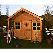 "6ft x 6ft (6' x 5' 6"") Honey 6 x 6 Wooden Playhouse 6x6"