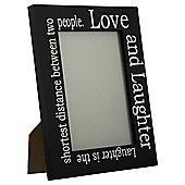 Tesco Love & Laughter Photo Frame Black 5 x 7""