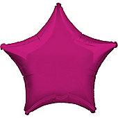 Fuchsia Star Balloon - 32' Metallic Foil (each)