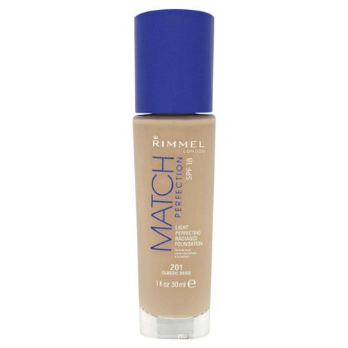 Rimmel London Match Perfection Light Perfecting Radiance Foundation SPF 18 201 Classic Beige 30ml