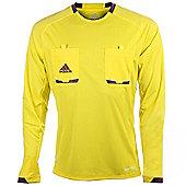 adidas Mens Yellow Long Sleeved Formotion Referee Shirt Jersey - Yellow