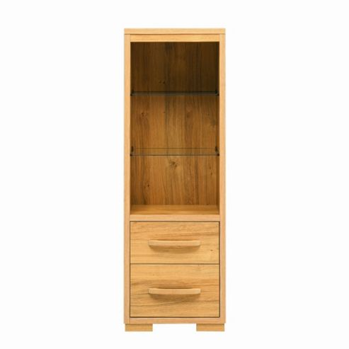 Caxton Strand Tall Tower Display Unit in Oak