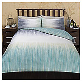 Large Scale Ikat Print Duvet Set, Single