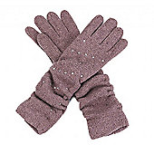 Long Dusky Pink Gem Gloves