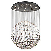 Stunning and Eye Catching Pendant Light with Circular Crystal Spheres