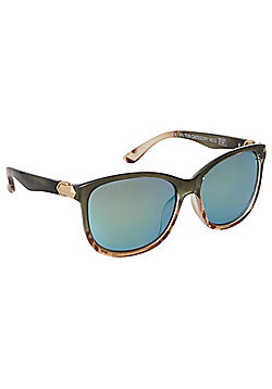 F&F Tortoiseshell Effect Mirrored Sunglasses