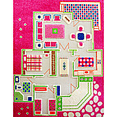 Little Helper 3D Playmat & Rug Playhouse Pink 134X180Cm