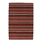 Think Rugs Oxford Red Knotted Rug - 150 cm x 240 cm (4 ft 11 in x 7 ft 11 in)