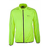 Force Men's Water-Resistant Running Jacket - Yellow