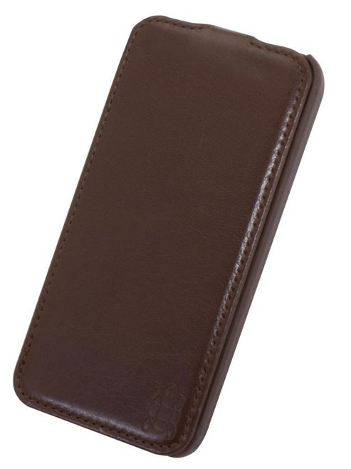 Tortoise™ Ultra Deluxe Slimline Flip Case iPhone 5 Brown