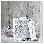Tesco Silver Doiley Christmas Jewellery Box