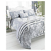 House of Cotton Balmoral Duvet Set Silver, Double