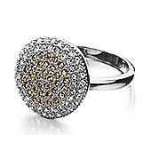 Shimla Ladies Circular Ring with Gold CZ Stones - SH-224SM
