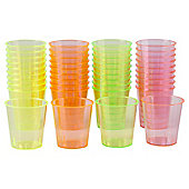 Swantex Neon Shot Glasses, 40 Pack