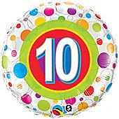 18' Age 10 Colourful Dots (each)