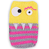 Quirky Knitted Character Handy Phone Cover - Yellow Monster