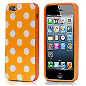 Orange & White Polka Dot Hard Case for iPhone 5