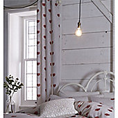 Catherine Lansfield Home Cosy Corner Multi Coloured Doily Hearts Curtains