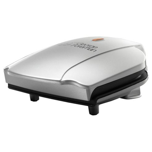 George Foreman 17894 Compact Grill - Silver, 2 Portion