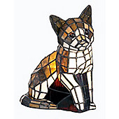 Arcade 24cm Tiffany One Light Cat Table Lamp