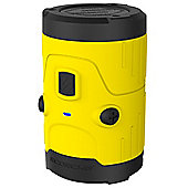 Scosche boomBOTTLE H2O Rugged Waterproof Bluetooth Wireless Speaker (Yellow)