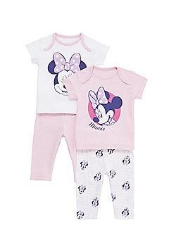 Disney Minnie Mouse 2 Pack of Pyjamas - Pink