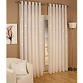 Miami Eyelet Voile Curtains - Ivory