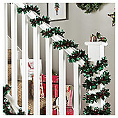 Weiste Holly and Berry Christmas Garland, 10m