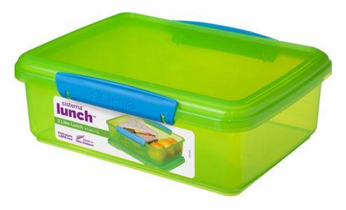 buy sistema klip it 2l sandwich storage box green from. Black Bedroom Furniture Sets. Home Design Ideas
