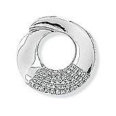 Jewelco London 9ct White Gold - Diamond - Charm Pendant -