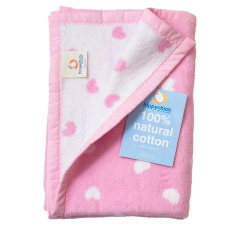 Pink Hearts Blanket 75x100cm