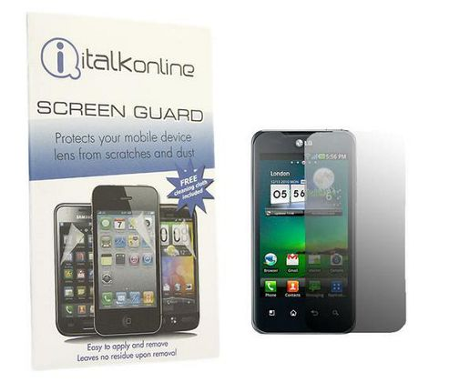 iTALKonline S-Protect LCD Screen Protector and Cleaning Cloth - For LG P990 Optimus 2x