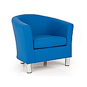 Ultimum Lifestyle Dawlish Faux Leather Tub Chair - Blue