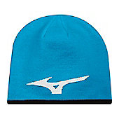 Mizuno Mens 360 Reversible Beanie Hat - Blue